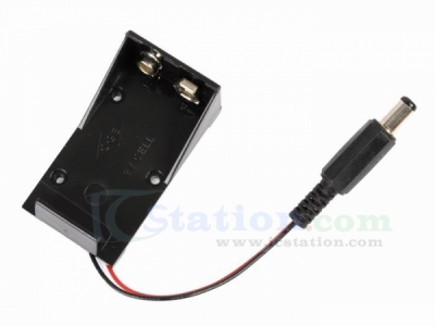 9V Battery Holder Box Case Wire with Plug 5.5*2.1mm for Arduino