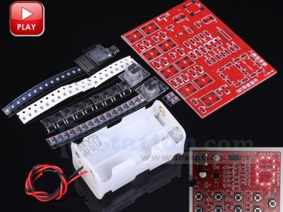 DIY Kits Full SMD 8 Channel Digital Responder WQM Suite SMT Soldering Practice Electronic Training Answer Device