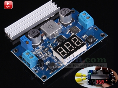 DC to DC Adjustable Step Up Boost Converter Power Supply Module Voltage Regulator DC 3-35V to DC 3.5-35V with Voltmeter Display