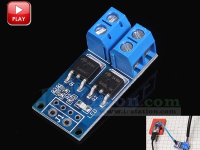 High Power Dual MOS Tube Transistor MOSFET Trigger Switch Driver Module Adjustable PWM Regulator Switch Control DC 5V-36V 400W