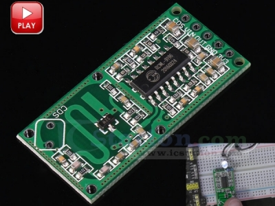 RCWL 0516 Microwave Motion Sensor Module Radar Sensor Body Induction Module 4-28V 100mA