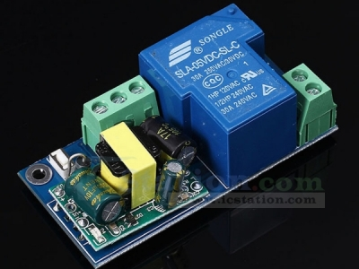 Wifi Relay Switch Module High Power Self-Lock Mode AC 220V 6.8x3.3x2.6cm for Remote Control