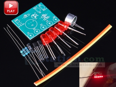 DIY Kits Sound Control Level Indicator Lamp Module Suite LED Light 3-5.5V 3x2.3cm Electronic Circuit Training Parts dgf-01