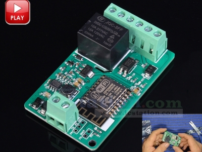 DC 7-30V ESP8266 WIFI Relay Module ESP-12F Network Relay Module 220V 10A Development Board Module for Smart Home