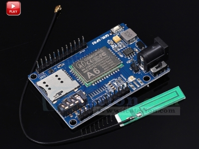 A6 GSM GPRS Module IPEX Interface Module Shield DC 5-9V Input for Arduino STM32 51 MCU SCM Microcontroller with Antenna
