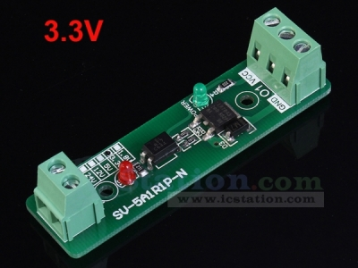 3.3V Single Channel Relay Driver Module Photoelectric Isolation Input NPN/PNP