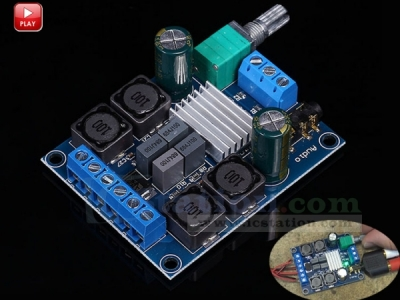 TPA3116D2 50W+50W Class D Amplifier Dual Channel Stereo Audio Digital Power Amplifier Board 2x50W Adjustable Volume Module