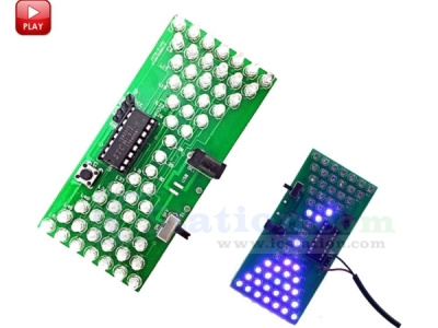 Hourglass Shaped LED Flashing Lights Lamps Funny DIY Kits Electronics Soldering Practice Set