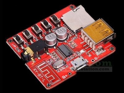 3.7-5V Wireless Bluetooth MP3 Decoder Board BLE 4.1 Decoding Module Micro USB TF Card Interface