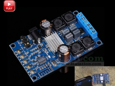 Digital Amplifier Wireless Bluetooth Audio Amp Board Headphone Dual Channel 50W+50W Power Amplifier Module with Protective Shell
