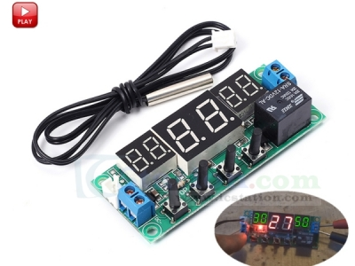 DC 12V Digital Temperature Controller Module Switch Temp Control Board -9~99 Celsius with Waterproof NTC Sensor Probe
