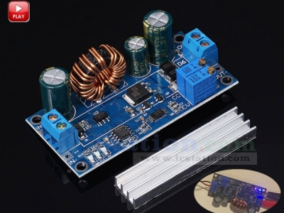 Adjustable Automatic Step Up/ Step Down Power Supply Board Constant Current Buck Boost Converter Module DC 5-30V to DC 0.5-30V