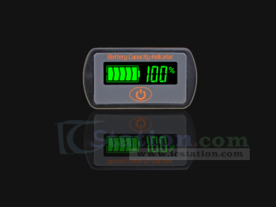LY7 12V Lead Acid Battery Capacity Indicator Voltage Indicator LCD Display Battery Power Tester with Touch Button