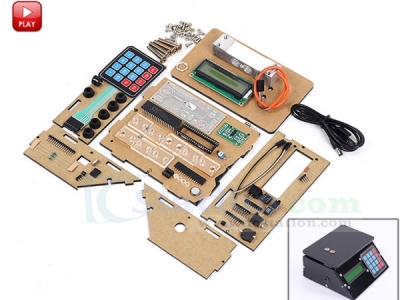 DIY Kits Electronic Scales 10kg 1g Pressure Sensor Price Scale USB Electronic Clock Module Kit with Black Shell
