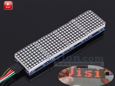 MAX7219 Dot Matrix Module 8x32 MCU Control Drive Module Red LED Display Module with 5P Dupont Wire