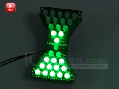 DIY Kit Green LED Electronic Hourglass Shaped Flashing Light DIY Funny Electric Production Kits DIY Module DC 3.3V-5V