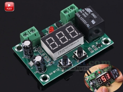 DC 12V Delay Relay Module Cycle Timer 1-999min Intermittent Work Mode PWM Type Switch Controller Module