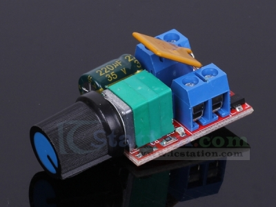 Mini DC 5A Motor PWM Speed Controller Module 5V-30V Speed Control Switch LED Dimmer