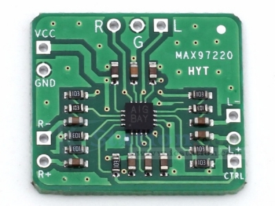 MAX97220 Power Amplifier Board Differential to Balanced Single-Channel Output AMP HIFI DC 2.5-5.5V