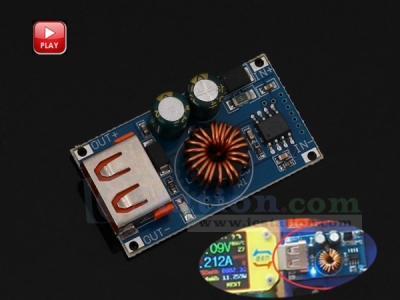 DC-DC USB Step Down Module 9V/12V/24V to 5V Buck Converter QC2.0 QC3.0 Fast Charging Power Supply Module
