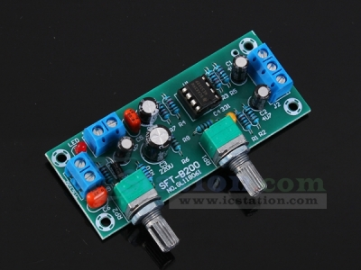 SFT-B200 DC 12V Single Power Supply Heavy Subwoofer Preamp Board HIFI Low Pass Filter Pre-circuit Module