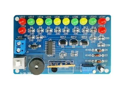 DIY Kit Music Circuit LED Flashing Module Electronic Components Suite