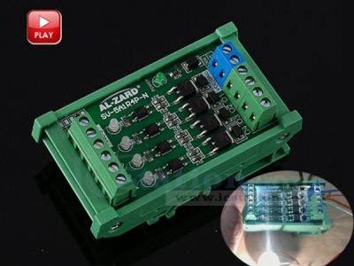 DC 3.3V 4-Channel PLC Amplifier Optical Isolator NPN Output Signal Converter Board