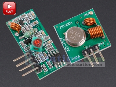 433Mhz RF Transmitter and Receiver Kit for Arduino Project