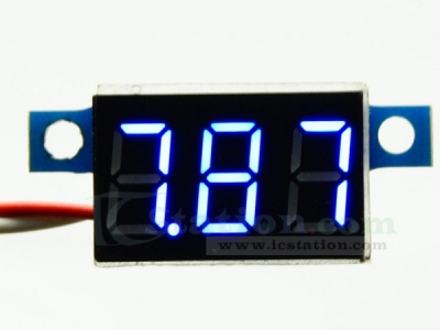 Blue LED Panel Meter Digital Voltmeter DC 0-30V