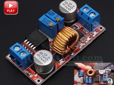 DC to DC Lithium Charger Step Down Buck Converter Power Supply Module Voltage Regulator DC 5V-32V to DC 0.8V-30V 5A