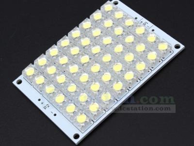 12V White LED Panel Board 48 Piranha LED Energy Saving Light