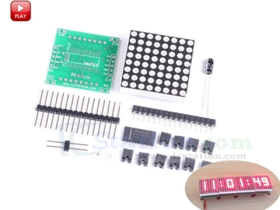 ICStation 8x8 MAX7219 Red LED Light Lamp Display Dot Matrix Module Panel DIY Kit