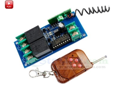 12V 2 Channel 315MHz Wireless Remote Control Module 2 Relay Wireless Module Interlock Type