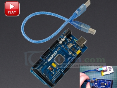 ICStation ATMEGA2560 Mega2560 R3 Board Module Compatible for Arduino