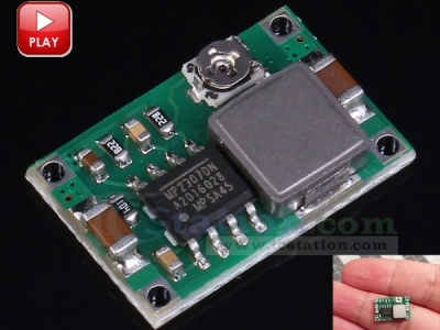 Mini-360 DC-DC 4.75V-23V to 1V-17V Buck Converter Step Down Module 340KHz