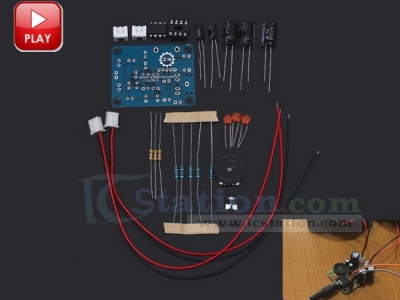 ICStation TDA2822 Power Amplifier Stereo DIY Kit Module Learning Suite