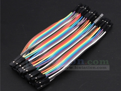 40pcs Dupont Wire 10CM 2.54MM Female to Female 1P-1P Jumper Cable For Arduino