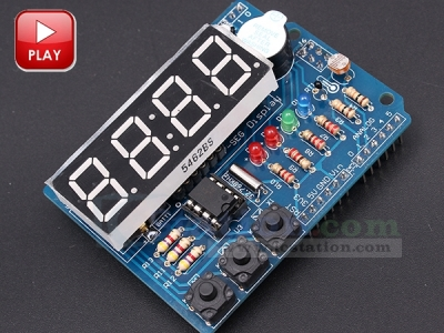 ICStation Electronic Clock DIY Kit Digital Tube