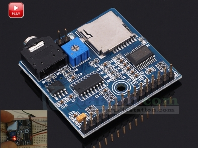 Voice Playback Module MP3 Sound Module Music Player Voice Broadcast Device Development Board for Arduino