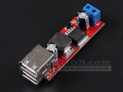 DC to DC Voltage Regulator Step Down Buck Converter Power Supply Module DC 9V/12V/24V/36V to DC 5V Dual USB Output