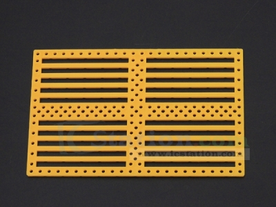 Car Chassis Perforated Plastic Multi Panel DIY For Robotic Toy Yellow