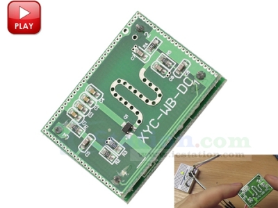 2.25GHz Microwave Radar Sensor Module 6-9M Smart Sensor Switch Radar Detector Sensor DC 3.3-20V for Smart Home