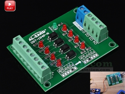 4 Channel Voltage Level Shifter Translator Optocoupler Isolation Board PLC Signal 4Bit Converter Module 24V to 5V