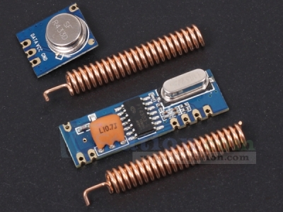 STX882+SRX882 433MHz ASK Wireless Transceiver Superheterodyne with 2PCS Copper Antenna