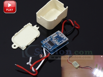DC 12V Radar Microwave Induction Switch LED Ad Light Box Corridor Microwave Sensor Controller