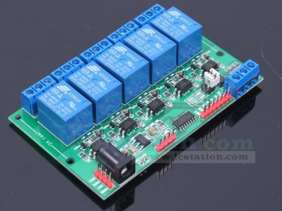5V 5-Channel Relay Module For TTL Level RS485 Computer Lock Motor Appliances Lamp Control
