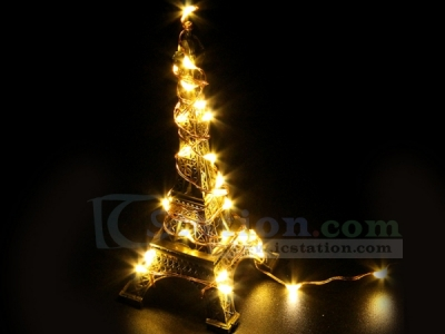 Yellow USB Copper Wire LED Fairy Light String Decorations For Party