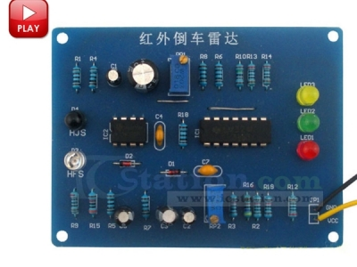 IR Infrared Reversing Radar DIY Kit Infrared Astern Speed Measurement Indicator DIY Kits Module Electronic Assembly Debugging Suite