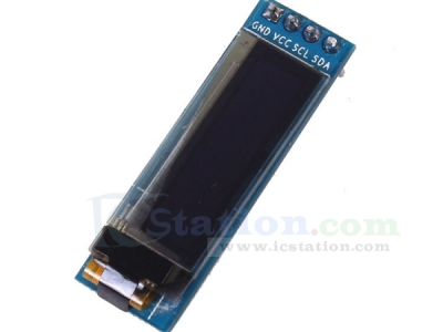 "0.91"" Inch 128x32 I2C IIC Serial Blue OLED Display Module 0.91"" 12832 SSD1306 for Arduino"