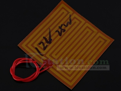 12V 25W PI Polyimide Flexible Adhesive Heater 100x100mm Polyimide Heating Film